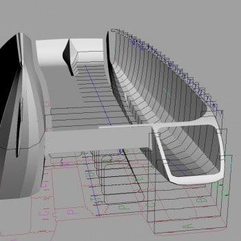 construction sur moule catamaran