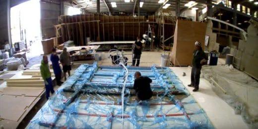 Construction d'une coque de bateau